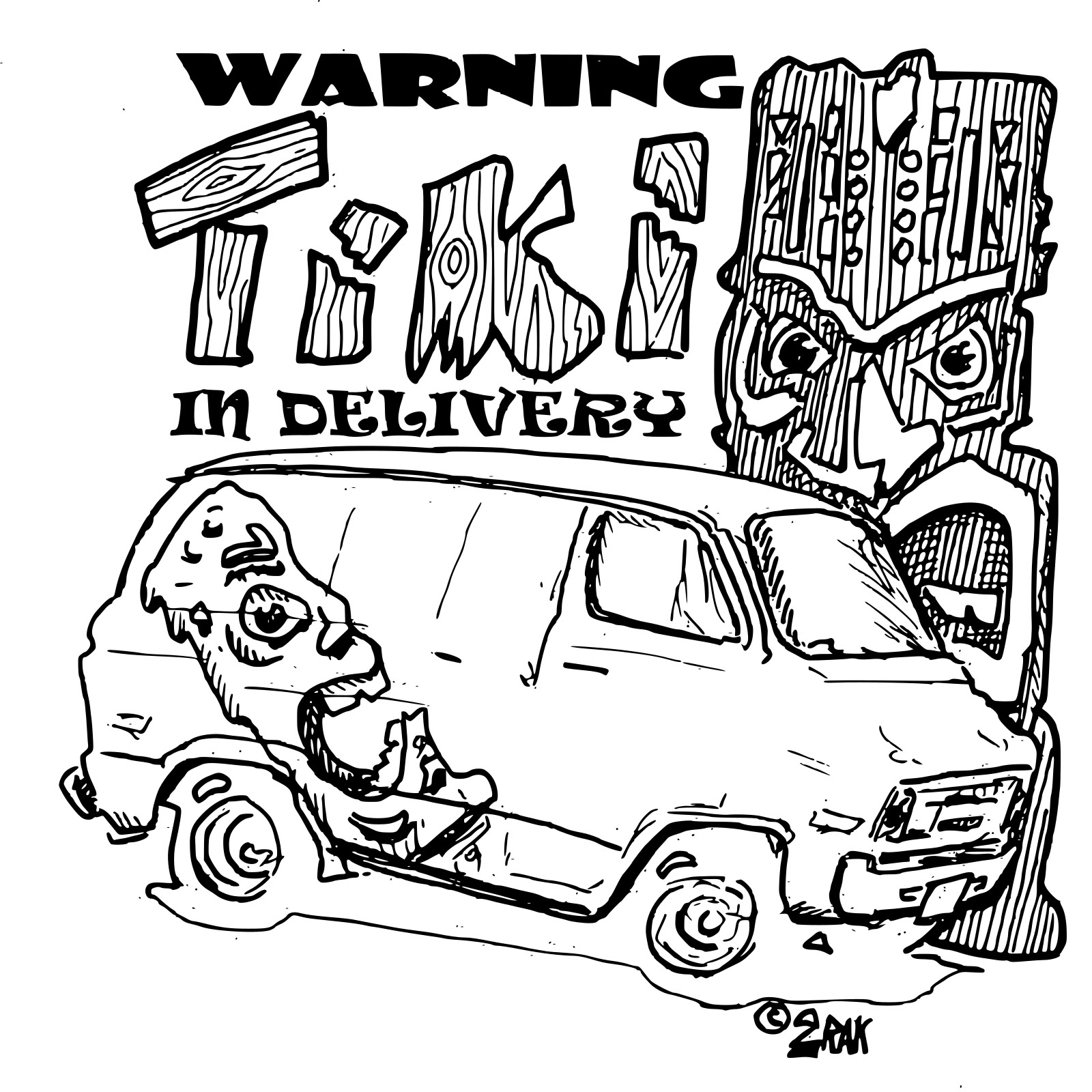 tiki delivery bw